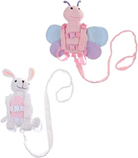 Prettyia 2pcs Cute Kids Safety Harness Reins Toddler Backpack Strap Walker Baby Bag