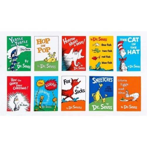 1c3f4ed2 Dr. Seuss Celebrate Seuss Book Blocks 24'' Panel Adventure Fabric
