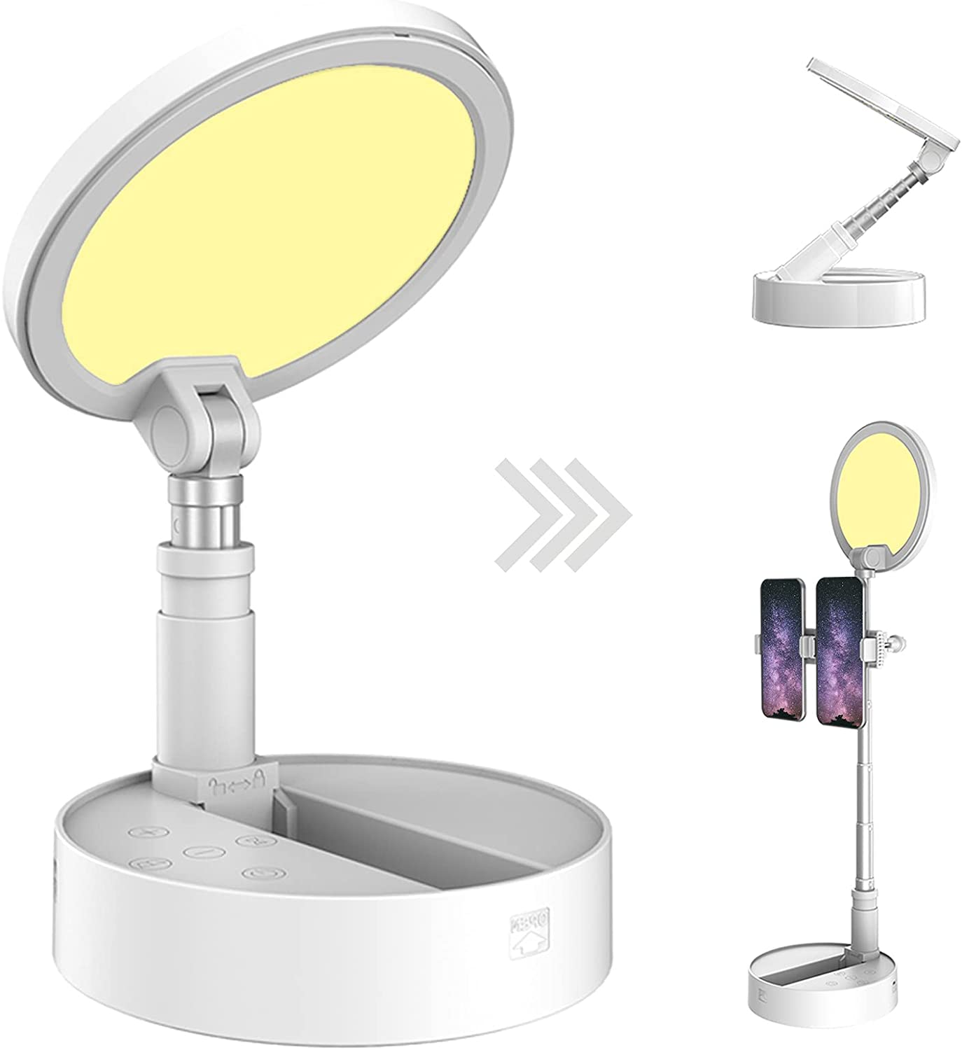 Foldable Selfie Ring Light Mail order cheap Max 81% OFF Makeup Tablet with Phone