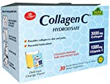 CollagenC Collagen Peptides Hydrolysate Powder Supplement - Premium Quality Source of Antioxidants - for Immune Support, Skin, Hair, Nails & Joints support - 30 Packets