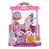 ZURU Pets Alive- Powered Robotic Toy Unicornio mágico en Juego de Juguete Interactivo con Pilas, Rosa, Color (B07PP85THK)