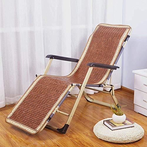 ZTMN Rechthoekige Opvouwbare schommelstoel kussens Bamboe Ademend en koel Sun Lounger Kussen Voor Patio Chaise Stoel Mat-50x120cm(20x47inch) D