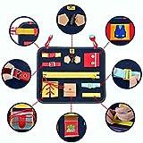 Mia Bambina Toddler Busy Board - Montessori Basic Skills Activity Board for Fine