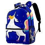 Leisure Campus - Mochilas de viaje con diseño de unicornio para perro, color azul