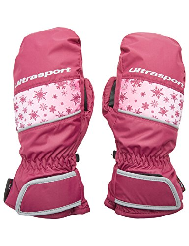 Ultrasport Kinder Basic Starflake Ski-fäustling, Beere, 6-8 Jahre