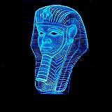 Tischleuchten Ägyptischer Pharaos LED-Lampe Bunte Gradient 3D Stereoscopic Noten-Fern...