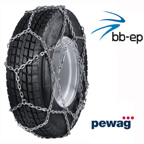 pewag CERVINO - Chaînes à neige économiques pour usage commercial - Pour camionnettes et camions avec pneus de taille 12/80 R20 - Homologuées TÜV Ö-Norm V5119 - Pour une utilisation routière standard.