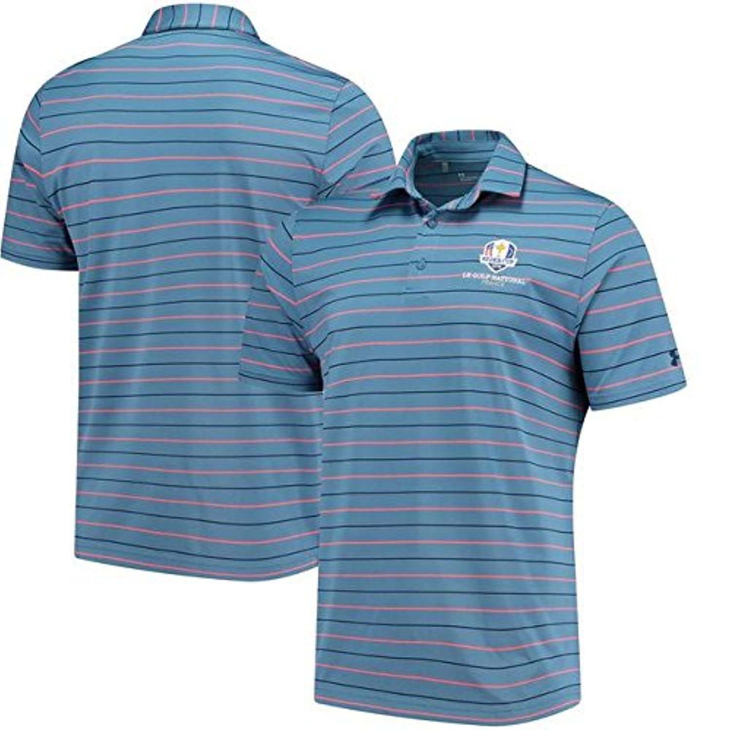 Under Armour Under Armour Navy/Orange 2018 Ryder Cup Stripe 2.0 Performance Polo スポーツ用品 【並行輸入品】