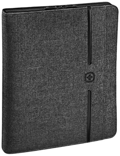 Wenger Affiliate Padfolio - 10'' Tabletfach Organizer Ringhefter Notizblock Business Damen/Herren - Grau