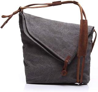 LIUFULING Women and Men's Travel Rucksack Vintage Briefcase Satchel Shoulder Bag (Color : Gray, Size : OneSize)