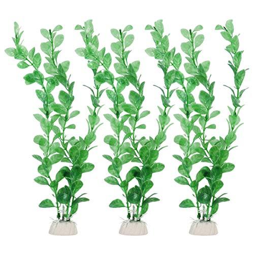 UEETEK 人工植物 水槽装飾 水草 3点セット 水槽 オーナメント 水族館 アクアリウム インテリア 水槽用品