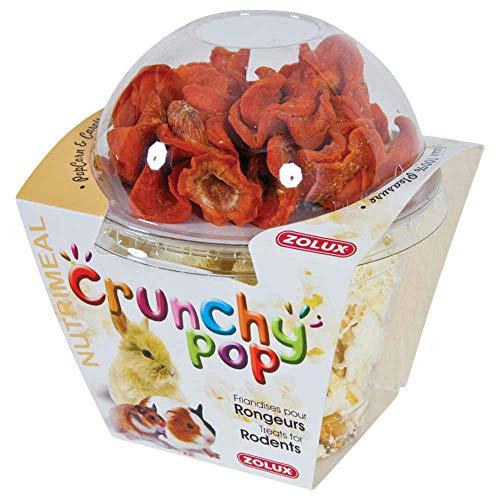 Zolux Friandises pour rongeurs Crunchy Pop Carotte 43G Pop Corn et Carottes