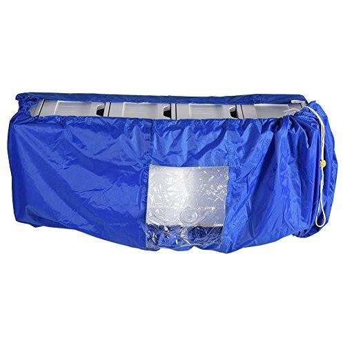 Coperchio di pulizia del condizionatore d'aria, condizionatore d'aria impermeabile del panno Condizionatore di polvere di lavaggio domestico con protezione d'acqua esterna(L)