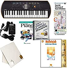 Homeschool Music - Piano Pack (Hallelujah) – W/Casio SA76 Keyboard, Adapter, learn 2 Play DVD/Book, The Best of Children's Classic Piano Vol. 1 & All Learning Essentials