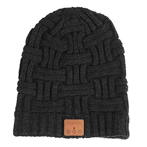 yotijar Beanie Hat com Bluetooth V5.0 térmica, elástica Sem Fio Fones de Ouvido Chapéus de Inverno para Homens Mulheres Adolescentes Juventude Presente