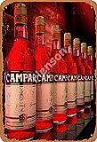 DGBELL Campari Neat Blechschild Vintage Retro Plaque