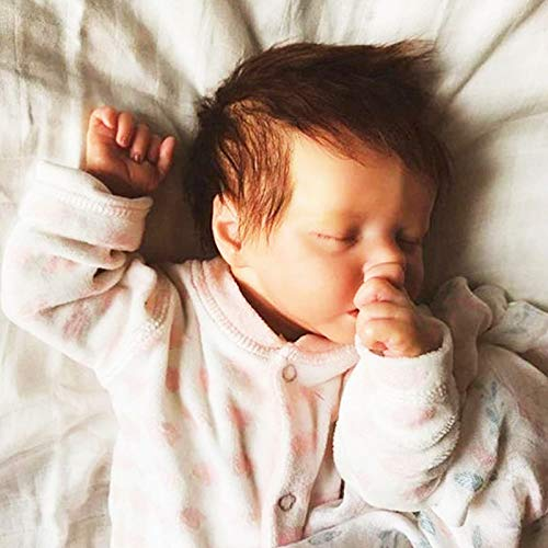 YANE Reborn Baby Dolls Sleeping Girl 46Cm Silicona Suave Cuerpo Completo Realista Recién Nacido Juguete para Niños La Vida Real como para Niños