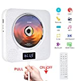 Portable Bluetooth DVD/CD Player, Wall Mountable CD DVD Player HDMI Built-in...