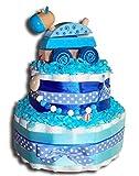 Tarta de pañales mágica para pañales con base de basjo, regalo para baby...