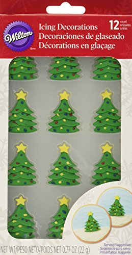 Wilton 12 Count Christmas Tree Royal Icing Decorations