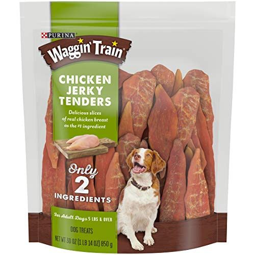 Purina Waggin#039 Train Limited Ingredient Grain Free Dog Treat Chicken Jerky Tenders  30 oz Pouch 00807020171198