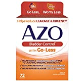 AZO Bladder Control with Go-Less Daily Supplement | Helps Reduce Occasional Urgency* | Helps reduce occasional leakage due to laughing, sneezing and exercise | 72 Capsules