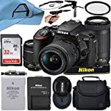 Nikon D5600 DSLR Camera 24.2MP Sensor with NIKKOR 18-55mm VR and 70-300mm Dual Lens, SanDisk 32GB Memory Card, Case, Tripod and A-Cell Accessory Bundle (Black)