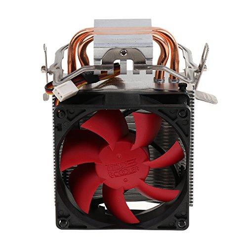 Shiwaki Enfriador de CPU Heatpipe Ventilador Silencioso para Intel LGA775 / 1155/1156/1366 / AMD Socket 754