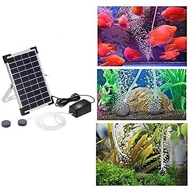 N/A New 10V 5W Solar Powered Oxygenator Fish Aquarium Pond Water Oxygen Pump Air Pump BSV-AP006