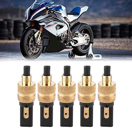 Interruptor de pedal de embrague-5 piezas Moto Luz trasera delantera Interruptor de embrague de freno trasero