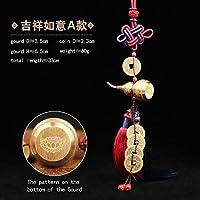 中国結び風水仏教の6つのマントラを飾るWuLouHuLu銅合金ひょうたんお守り家の装飾アクセサリー (JXRY HLCG A)