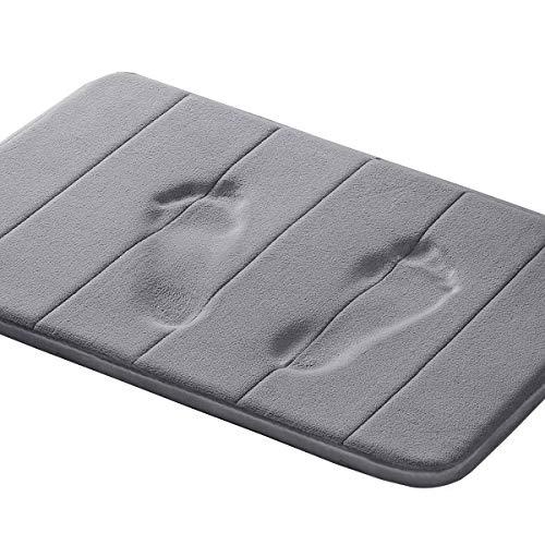 Memory Foam Bath Mat Soft Memory Foam Non Slip Bath Mat Toilet Floor Rug Non Slip Rubber Backing Non Slip Absorbent Super Cozy Velvet Bathroom Rug Carpet (17