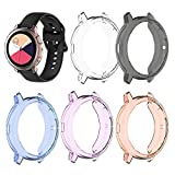 Compatible with Samsung Galaxy Watch Active 2 Case 40mm SM-R830 Flexible TPU Protective Case Protector Cover (No Screen Protector) 5-Pack