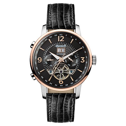 Ingersoll Men\'s The Grafton Automatic Watch with Black Dial and Black Leather Strap I00702