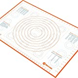 Jumbo Extra Large Silicone Marcorex Pastry Mat 29.6 x 20.5 inch with Measurements and Conversion...