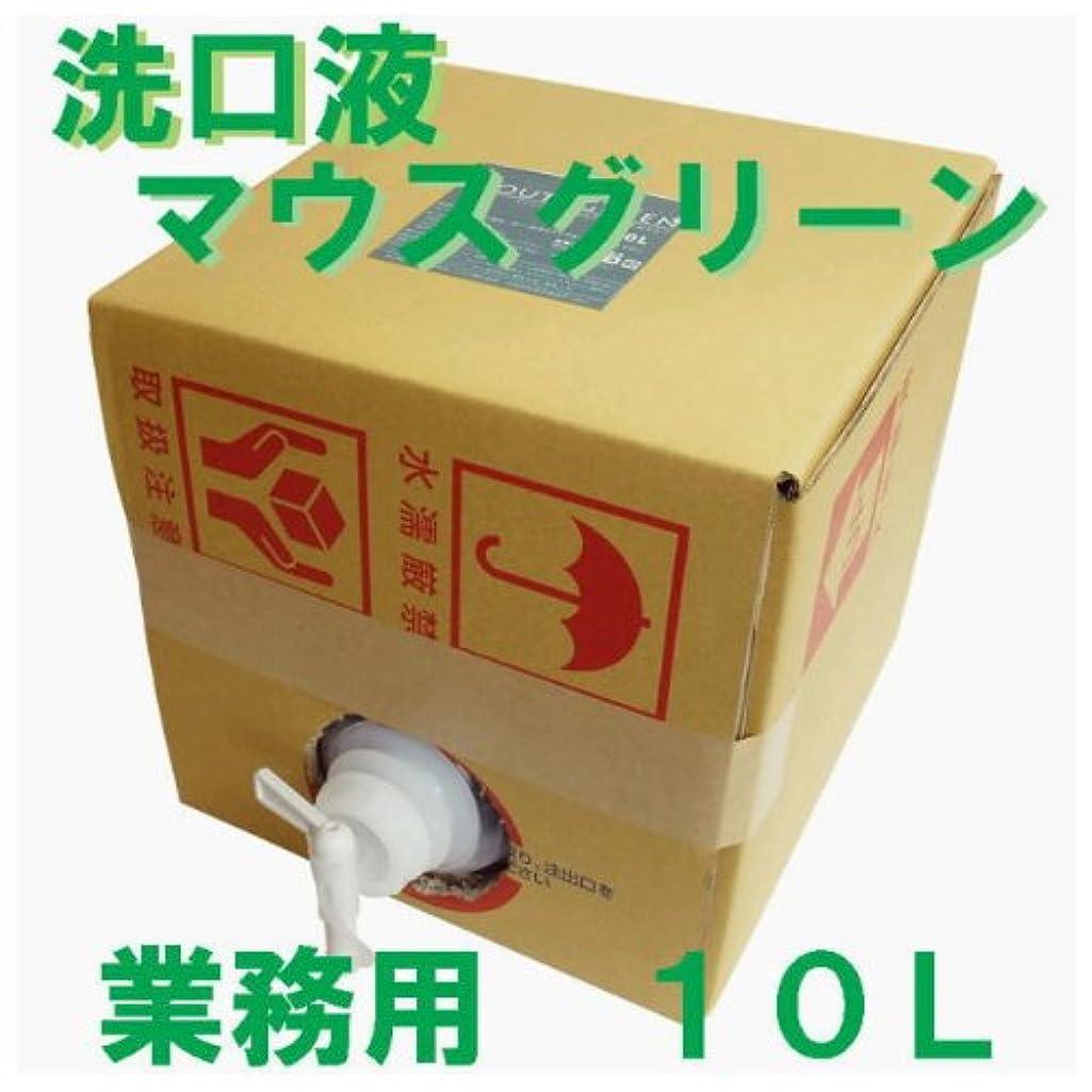 アスレチックイライラする凶暴な業務用 口腔化粧品 マウスグリーン洗口液 10L