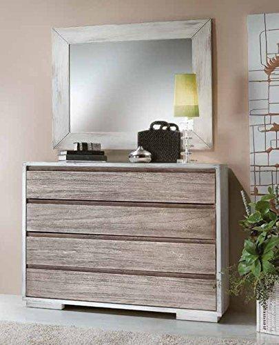 Commode en bois 4 tiroirs avec glissières amorties