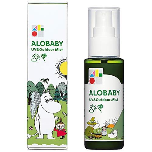 ムーミンデザインボトルアロベビーUV&アウトドアミスト80ml無添加オーガニック新生児赤ちゃん日焼け止め紫外線吸収剤不使用