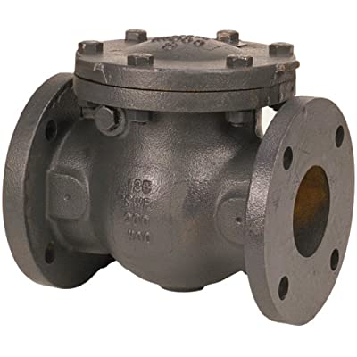 """NIBCO F-918-B Cast Iron Irrigation Check Valve, Horizontal Swing, Class 125, Bronze Seat, 2-1/2"""" Flanged from NIBCO"""