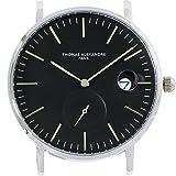 [Thomas Alexandre]トーマ アレクサンドル 腕時計 フランス 替えベルト対応 ミニマル メンズ/レディース時計 (ブラック)