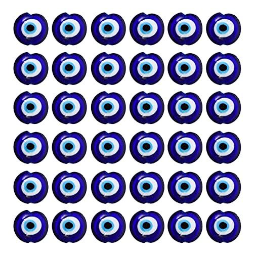 BESPORTBLE 100 Piezas de Amuletos de Ojo Malvado Oculares de Cristal Aleación de Diamante Amuletos de Metal Colgantes para Collar Pulsera Manualidades Accesorios para Hacer Joyas
