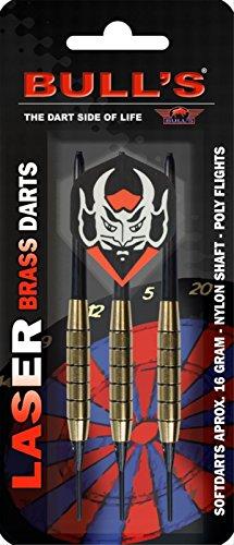 BULL'S Laser Soft Dart 16g, Schwarz