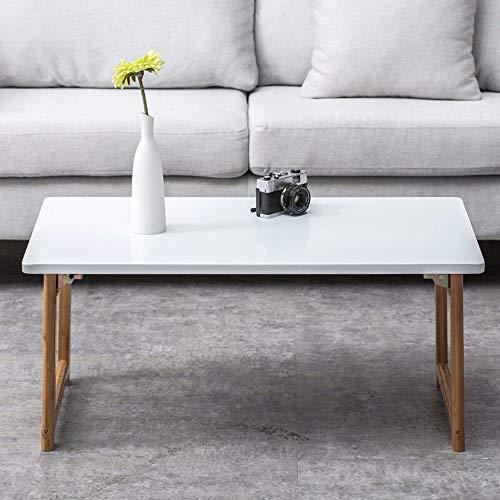 Alppq Table pliante Utilitaire Table à thé Table basse Ménage Bois massif Table de lit Table basse Bureau d'ordinateur pliable Rectangle à usages multiples Rectangle Économie de l'espace Table pliante