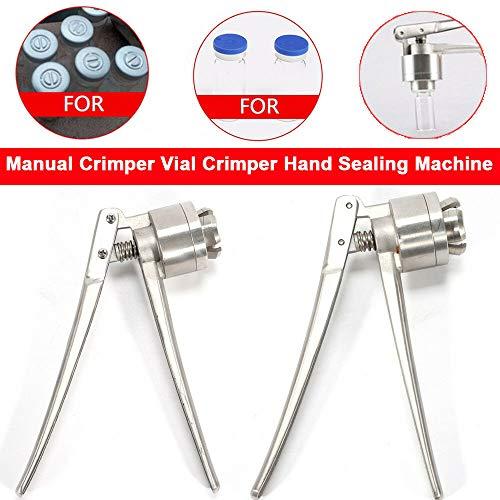 20mm Flip Off Vial Crimper Bottle Cap Crimping Tool Hand held Capping Machine Bottle Capper for Pharmaceutical Food Packaging
