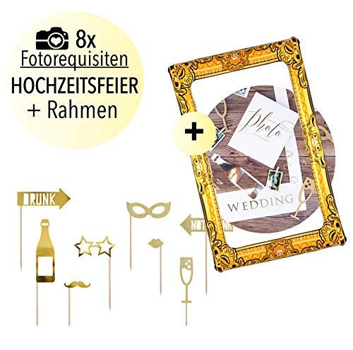 L+H Party Photo Booth Set | Party Requisiten inkl. Premium aufblasbarer Fotorahmen | Fotorequisiten & Selfie Rahmen 80 x 60 | Ideal für Fotoautomat, Foto