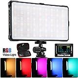 PIXEL LEDビデオライト RGB撮影ライト 撮影 照明 フルカラー充電式ポケットサイズ 二色3200K-5600K パッテリー内蔵 Type-C充電 12モード照明効果 動画撮影、生放送、ライブ、YouTube、tik tok、自撮り、ビデオチャット、音楽MV撮影