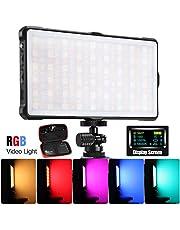 PIXEL LEDビデオライト RGB撮影ライト 撮影 照明 フルカラー充電式ポケットサイズ 二色3600K-5200K パッテリー内蔵 Type-C充電 12モード照明効果 動画撮影、生放送、ライブ、YouTube、tik tok、自撮り、ビデオチャット、音楽MV撮影