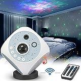 LED Proyector Estrellas, Proyector Luz Estelar Rotación de 360, 4 en 1 Luz de noche romántica, 14 Colores / Control Remoto/ Altavoz Bluetooth/ Temporizador para, Fiestas, Bodas, Cumpleaños, Regalo