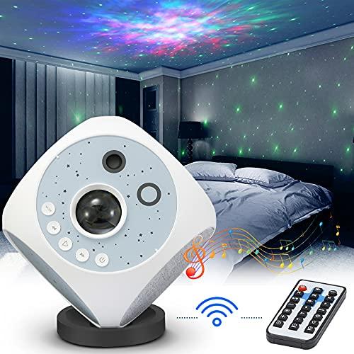 2021 Neueste LED Sternenhimmel Projektor,3 in 1 Starry Projector Light,Sternenlicht Projektor mit Fernbedienung/Lautsprecher/Timer,Galaxy Light für Kinder,Erwachsene,Geschenke für Party,Ostern