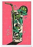 JUNIQE® Cocktails Retro Poster 20x30cm - Design
